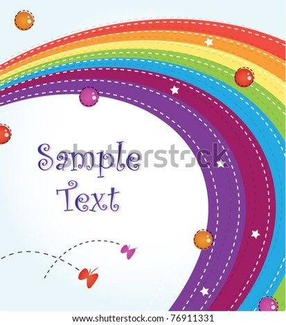Colorful rainbow template design - stock vector