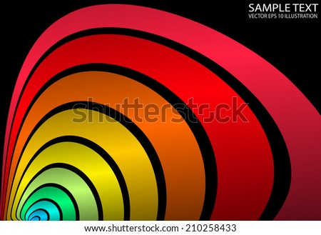 Colorful rainbow vector abstract background illustration - Abstract curved vector background template - stock vector