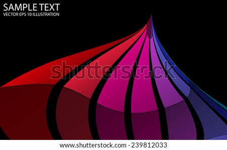 Colorful rainbow vector background illustration - Modern colorful rainbow vector template - stock vector