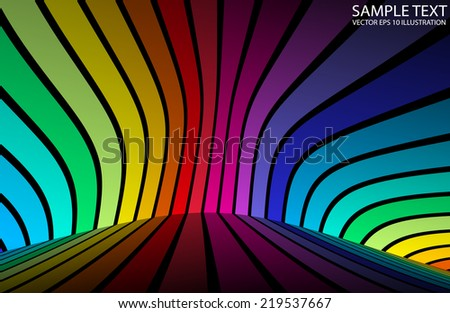 Colorful rainbow vector background illustration - Vector color background design illustration - stock vector