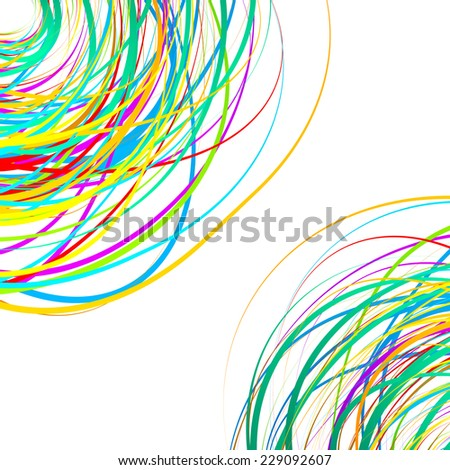 Colorful scribble like elements. Abstract vector - stock vector
