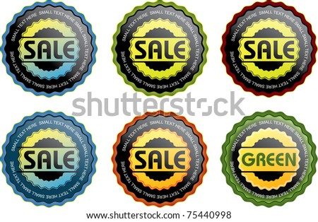 Colorful Seals - stock vector
