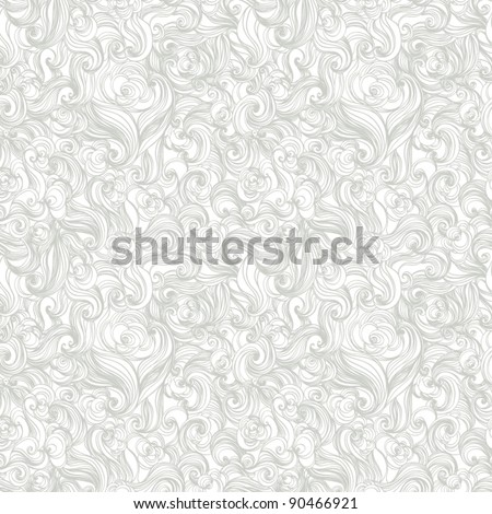 colorful seamless abstract hand-drawn pattern, waves background  vintage - stock vector