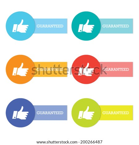 Colorful Set of Guaranteed Labels - stock vector