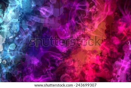Colorful smoke background - stock vector