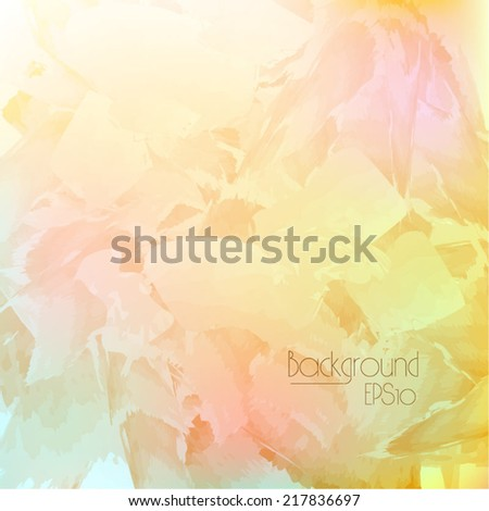 Colorful smooth abstract  background. Vector illustration, eps 10, light yellow red pink - stock vector