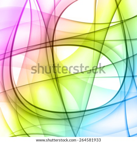 Colorful smooth lines vector background, easy editable - stock vector