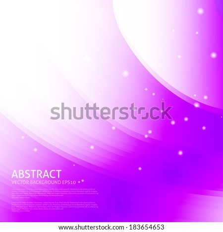 Colorful smooth wavy curved lines. Purple, violet, lilac colors background - stock vector
