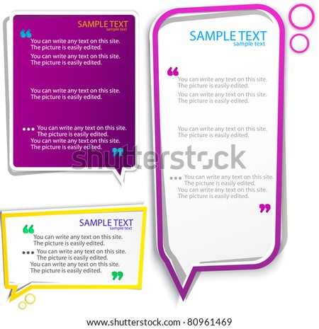 Colorful speech frames - stock vector