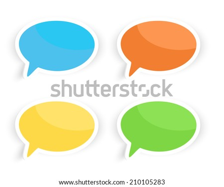 Colorful speech text bubbles illustration - stock vector