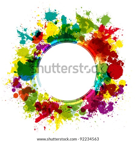 Colorful splash background with place for text - stock vector