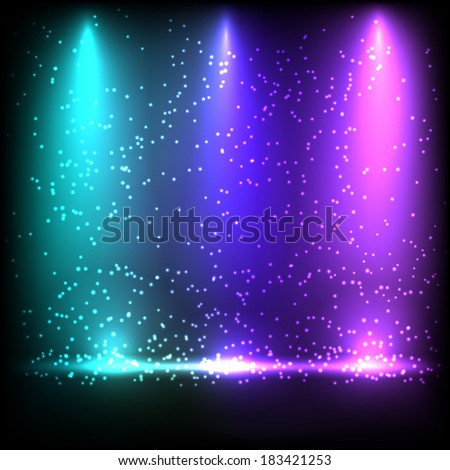 Colorful spotlight background. Vector eps10. - stock vector