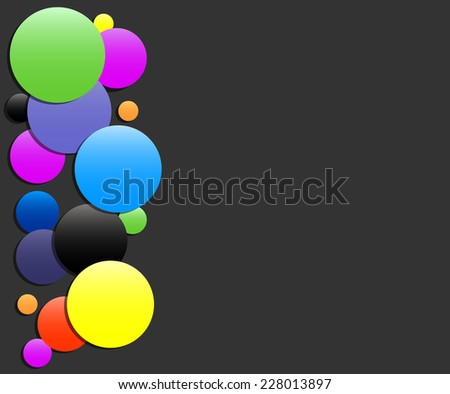 Colorful Square black background - Vector Design Concept. - stock vector