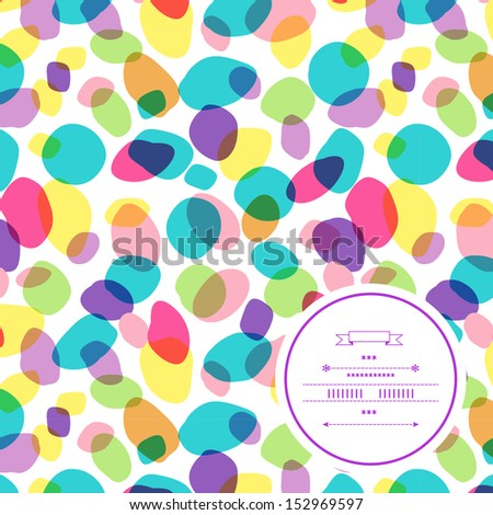 Colorful stains pattern - stock vector