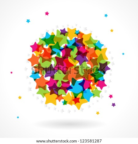 Colorful star circle. - stock vector