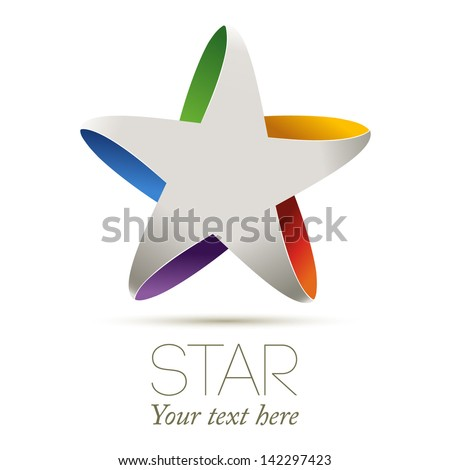 Colorful star, vector illustration - stock vector