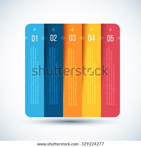 Colorful Step by Step design. Design Element for Business Web Design, Infographics, Banners, Tutorials, Applications. Vector Illustration. - stock vector