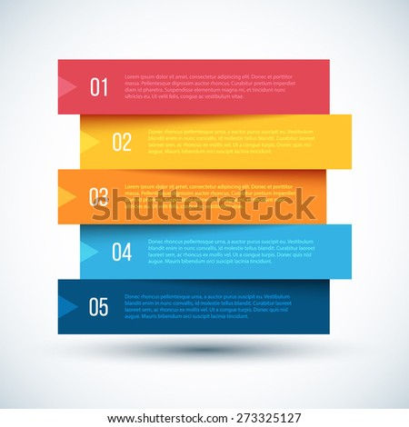 Colorful Step by Step design. Vector Illustration. - stock vector