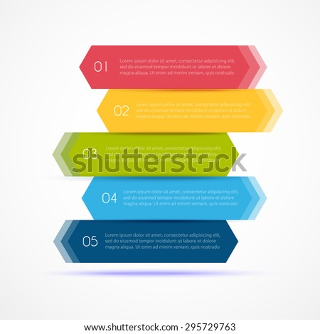 Colorful Step by Step design. Vector Illustration. Motion and speed for business - stock vector