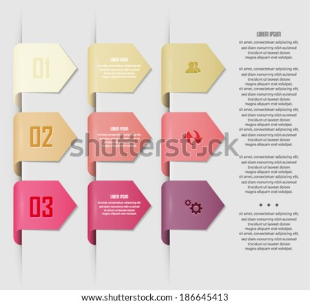 Colorful stickers with arrows and place for your text . vector eps10.  - stock vector