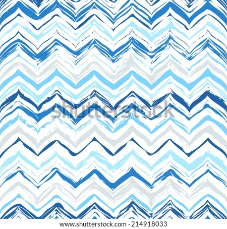 Colorful stripes seamless zigzag pattern. Abstract background with hand drawn stripes. Vector watercolor lines background. - stock vector