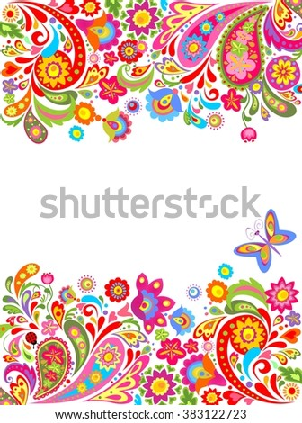 Colorful summery background - stock vector