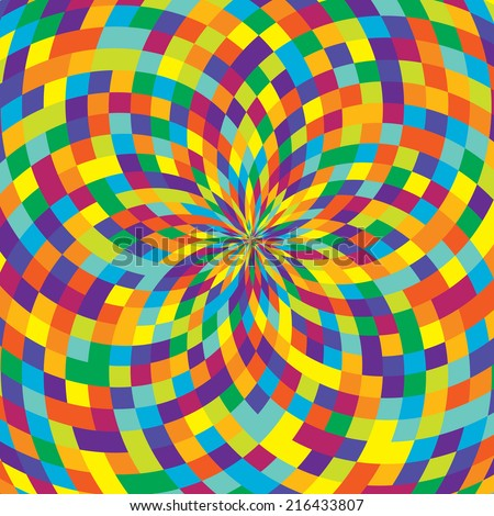 colorful swirl background illustration  - stock vector