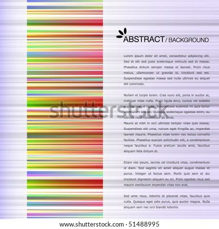Colorful template with colorful bar-code - stock vector