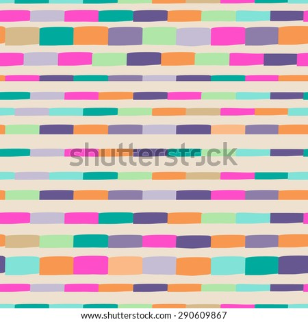 colorful tiles in stripes ~ seamless background - stock vector