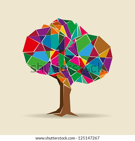 colorful tree - stock vector