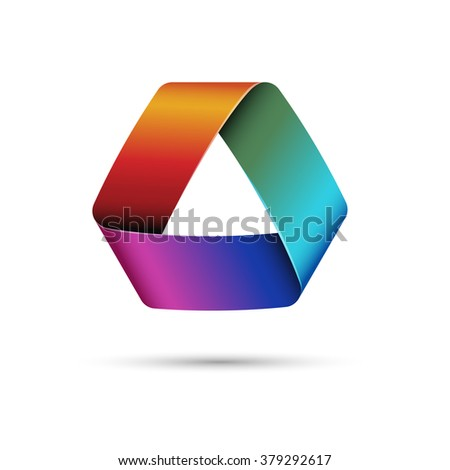 Colorful triangle, eps10 vector - stock vector