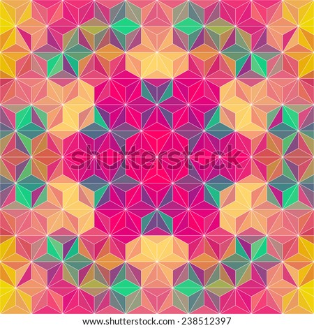 Colorful Triangle Pattern. Vector Geometric Background - stock vector