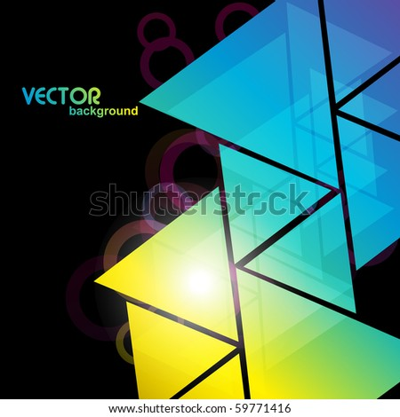colorful triangles shapes background design - stock vector