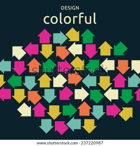 Colorful vector arrow background - stock vector