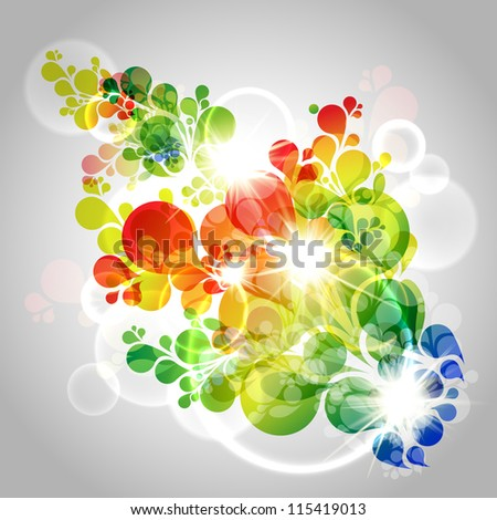 Colorful vector background - stock vector