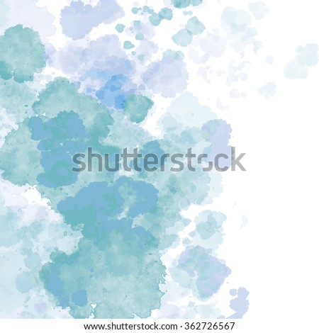 Colorful vector background with abstract watercolor paint - stock vector