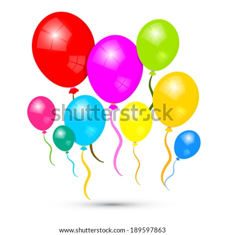 Colorful Vector Balloons Isolated on White Background - stock vector