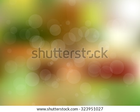 Colorful vector blurred circle abstract background with bokeh light circles - stock vector
