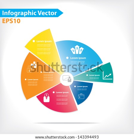 Colorful vector design for workflow layout, diagram, number options, web design, infographics - stock vector