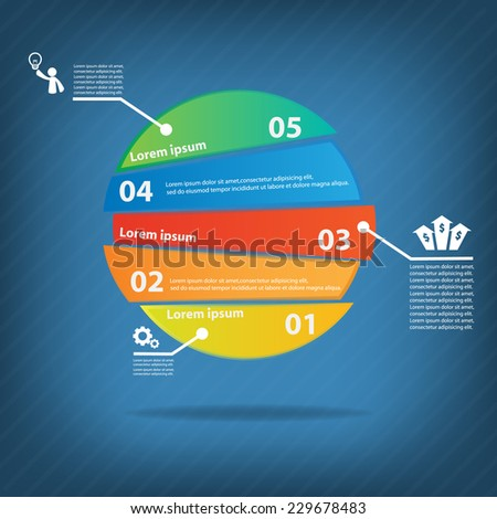 Colorful vector design for workflow layout, diagram, number options, web design, presentation template, infographics. - stock vector