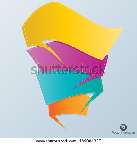 Colorful vector design for workflow, web design, infographics - stock vector