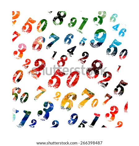 Colorful vector numeric background - stock vector