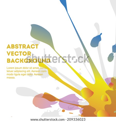 Colorful vector splashes isolated on a white background. Editable eps 10 illustration. - stock vector