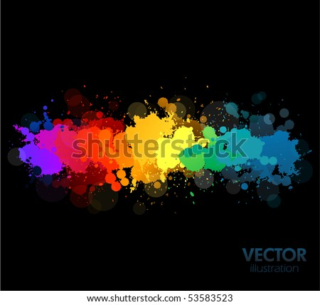 Colorful vector splats background - stock vector