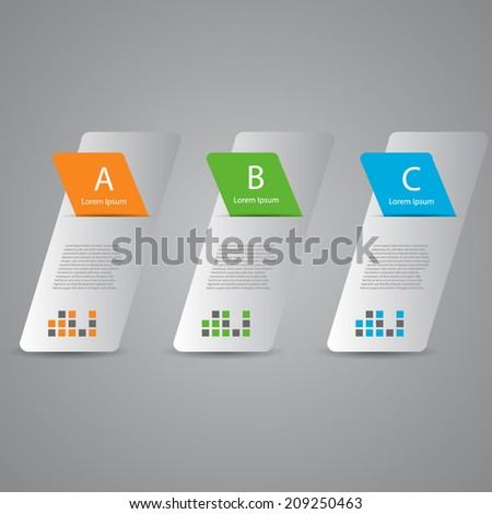 Colorful Vertical banners template. Can be used as numbered banners / infographics / workflow layout / diagram / web design. - stock vector