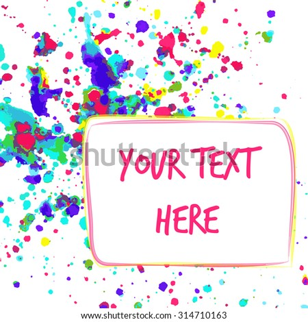 Colorful watercolor background for greeting card with space for your text. - stock vector