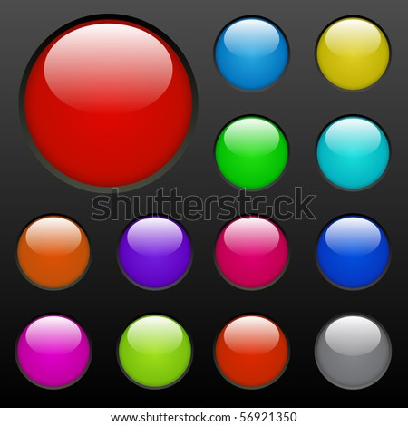 Colorful Web Buttons - stock vector