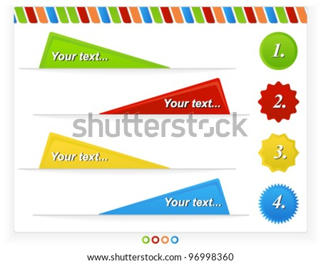 Colorful Web/Print Design Template - stock vector