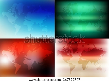 Colorful World political map. Vector illustration. World Map / Atlas. Colorful template for business card, banner, illustration or art. - stock vector