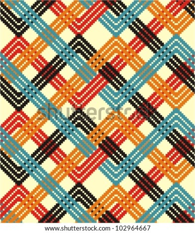 Colorful zigzag background - stock vector